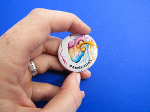 Pansexual Heart Button