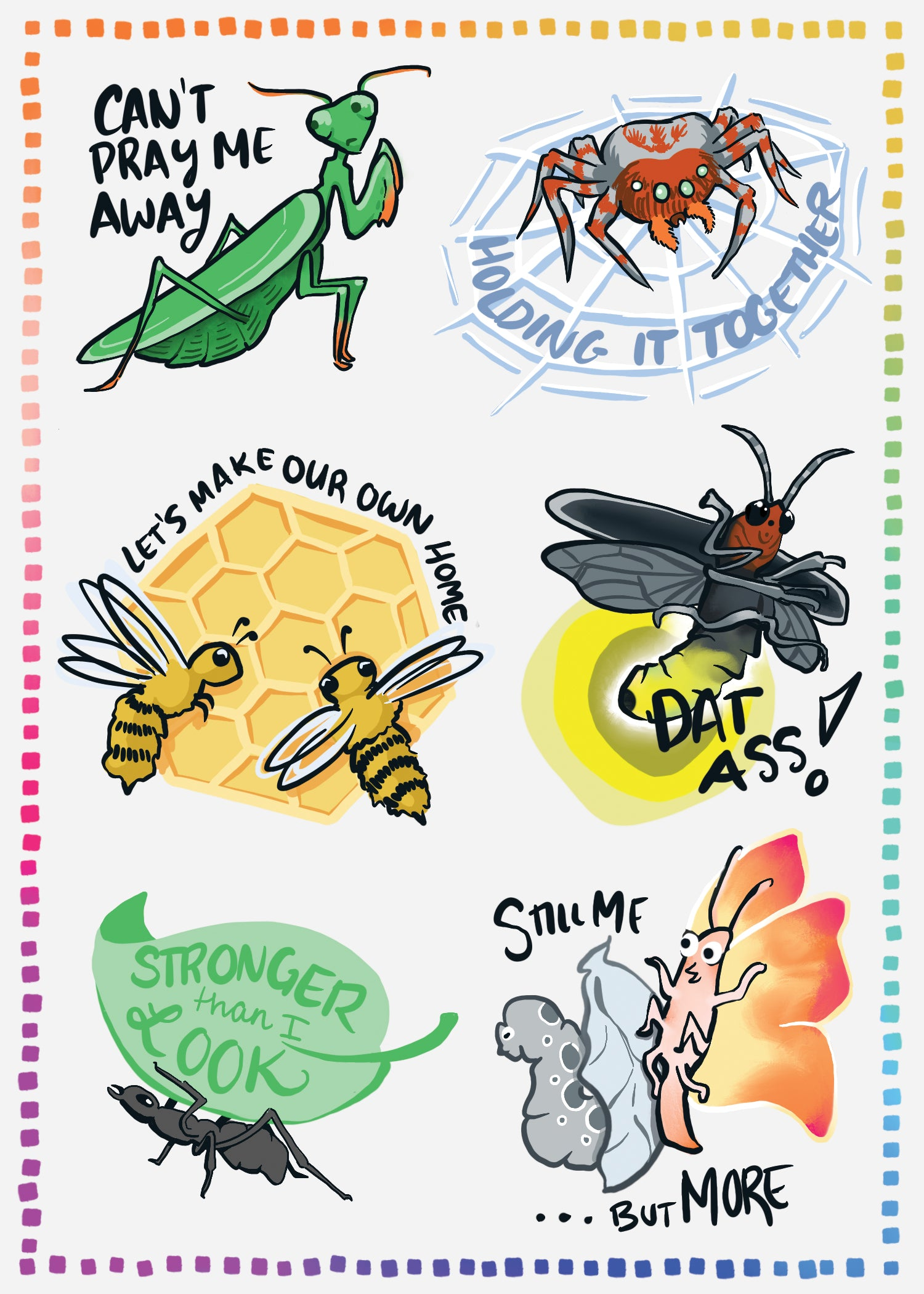 Confident Critter Stickers