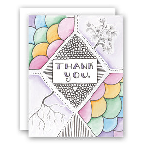 Rainbow Growth - Thank You Card