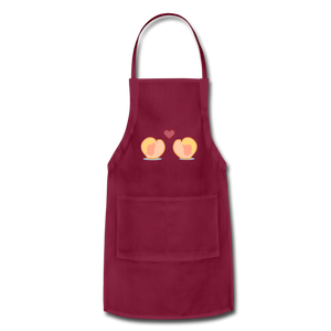 Adjustable Apron - burgundy