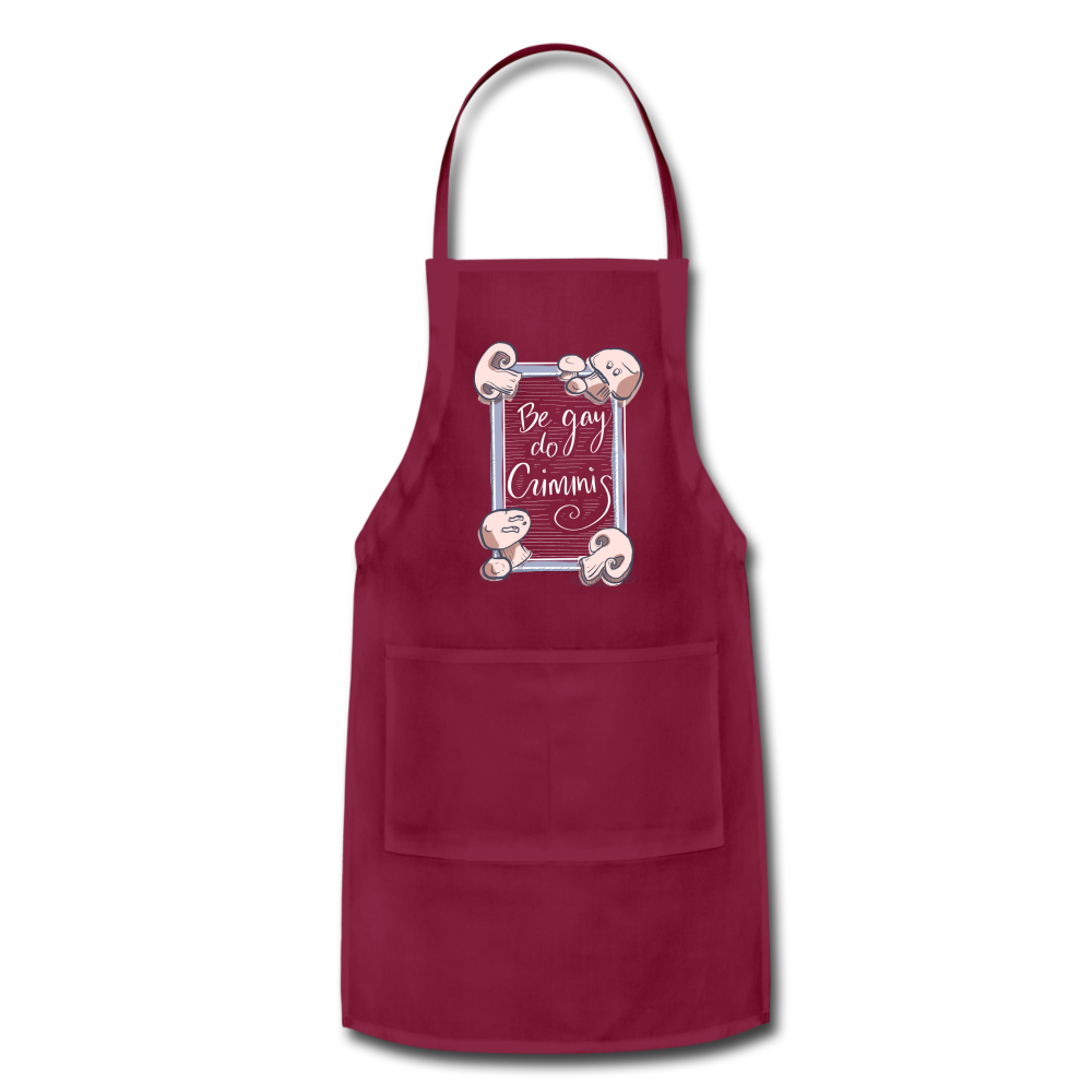 Be Gay, Do Criminis! Apron - burgundy