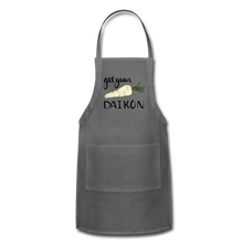 Load image into Gallery viewer, Get Your Daikon Apron - charcoal