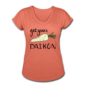 Get Your Daikon V-Neck - heather bronze