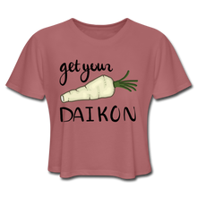 Load image into Gallery viewer, Get Your Daikon Crop Top - mauve