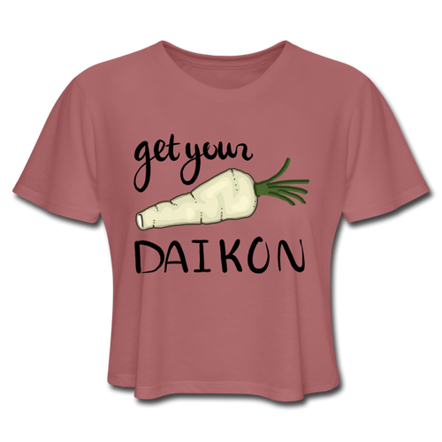 Get Your Daikon Crop Top - mauve