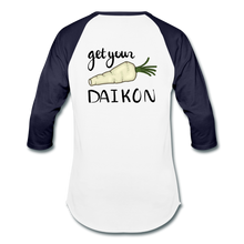 Load image into Gallery viewer, Get Your Daikon Baseball T - white/navy