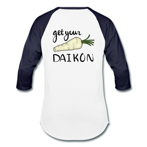 Get Your Daikon Baseball T - white/navy