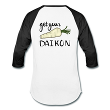 Load image into Gallery viewer, Get Your Daikon Baseball T - white/black