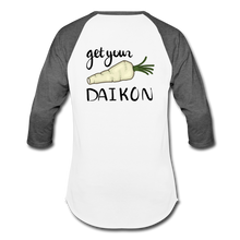 Load image into Gallery viewer, Get Your Daikon Baseball T - white/charcoal