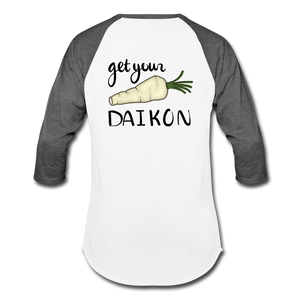 Get Your Daikon Baseball T - white/charcoal