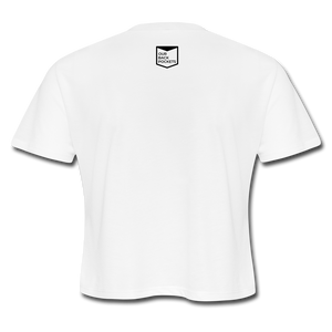 Gayven (gay raven) crop top - white