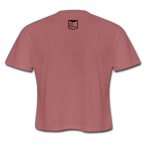Gayven (gay raven) crop top - mauve