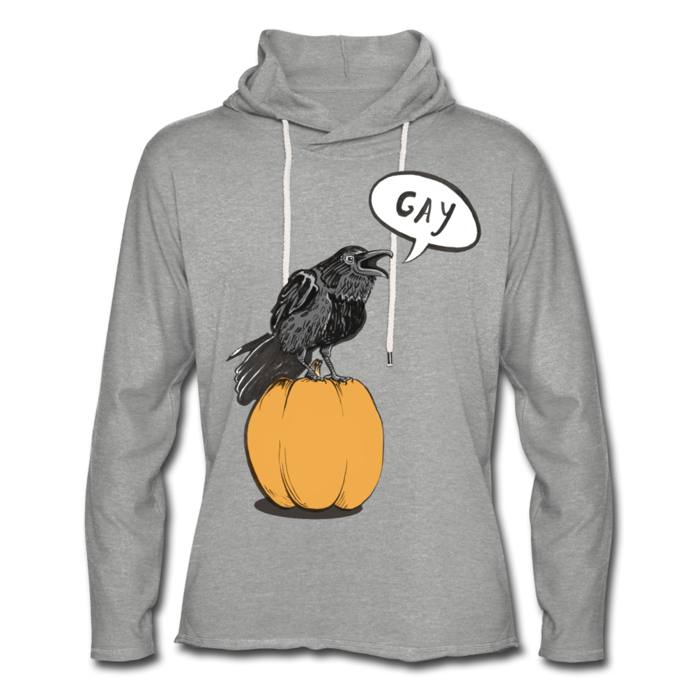Gayven (Gay Raven) Lightweight Hoodie - heather gray