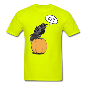 Gayven (gay raven) T-Shirt - safety green