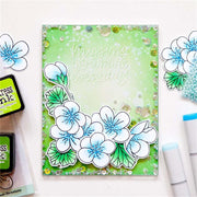 Nine Flowers Decorative Clear Stamps