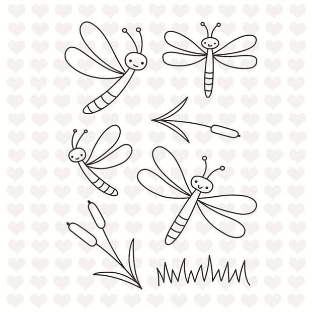 Dragonfly Decorative Clear Stamps