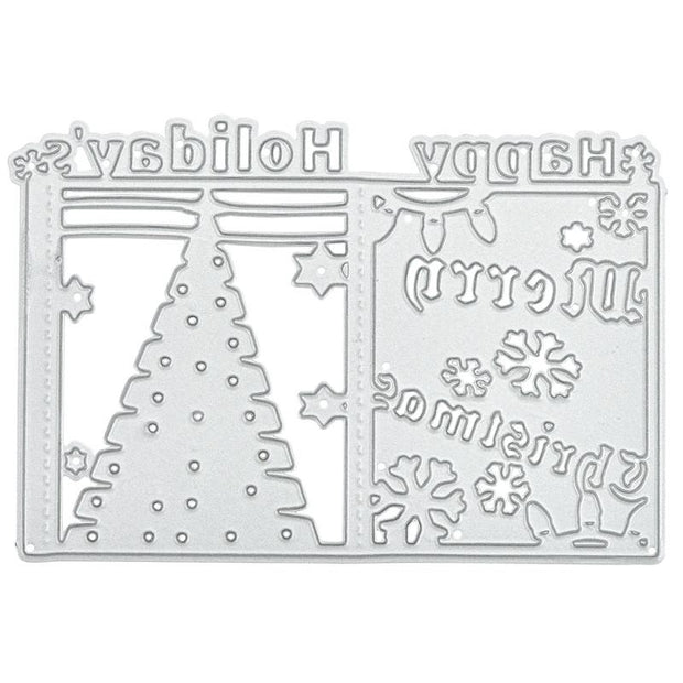 Merry Christmas Frame Metal Cutting Dies