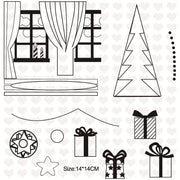DIY Christmas Tree Gift Decorative Clear Stamps