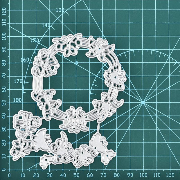 Butterfly Circle Frame Metal Cutting Dies