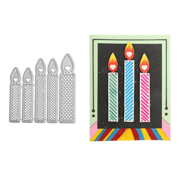 Five Candles Metal Cutting Dies