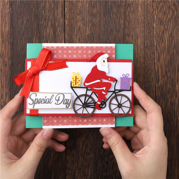 Bicycle Santa Claus Cutting Dies