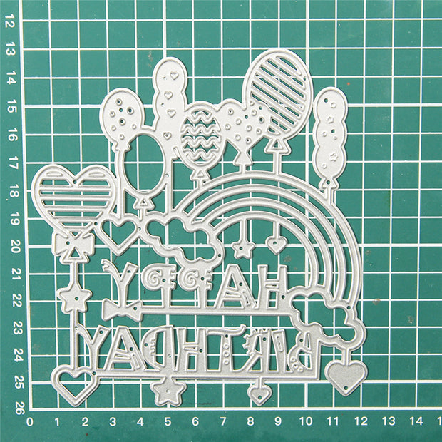 Happy Birthday Decor Balloon Cutting Dies