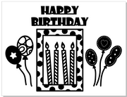 Happy Birthday Decor Balloon& Candle Cutting Dies