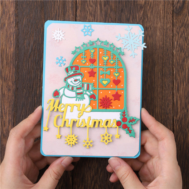 Snowman Merry Christmas Cutting Dies