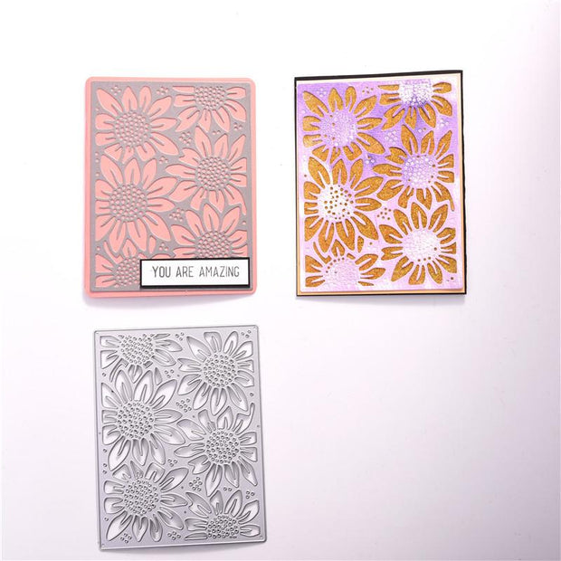 Sunflower Background Metal Cutting Dies