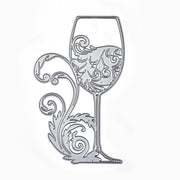 Large Size Wine Glass Lace Flower Dies