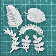 6 Pcs Leaves Metal Cutting Dies for Card Making