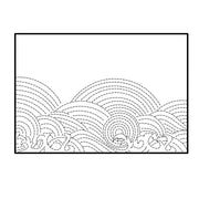 Wave Stitched Embossing Backdrop Dies