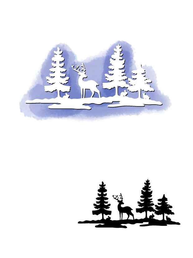 Christmas Tree & Elk Dies
