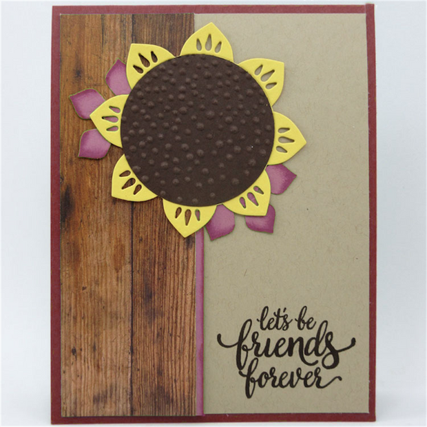 Vary Sunflower Decoration Clear Stamps