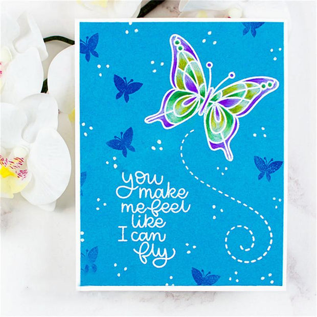 Keep Amazing Butterfly  Decoration Clear Stamps