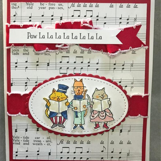 Cats Singing Decoration Clear Stamps