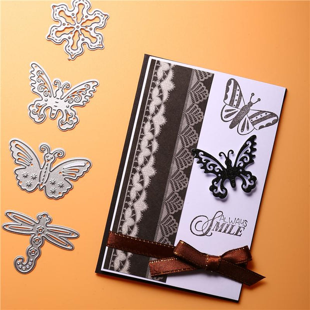 Butterfly Dragonfly Snowflake Metal Cutting Dies