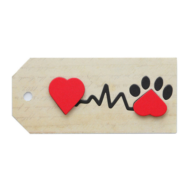 Kokorosa Love Dog Footprint Metal Cutting Dies