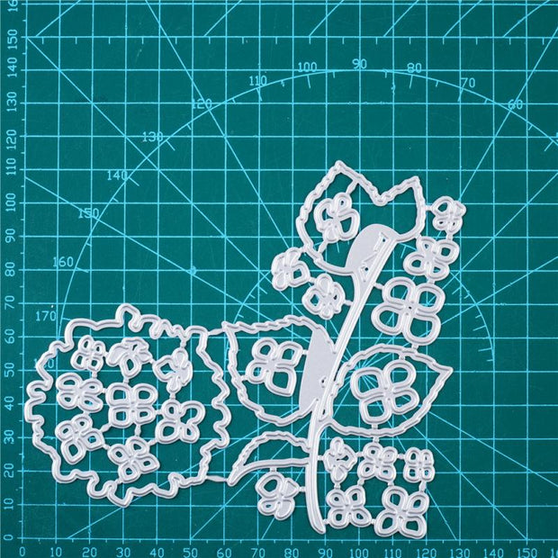 Kokorosa Metal Cutting Dies with Hydrangea Pattern