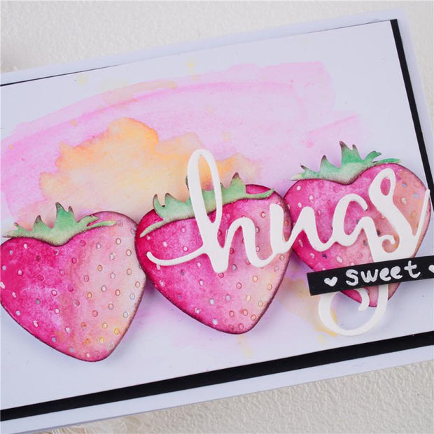 Heart Shaped Strawberry Metal Cutting Dies
