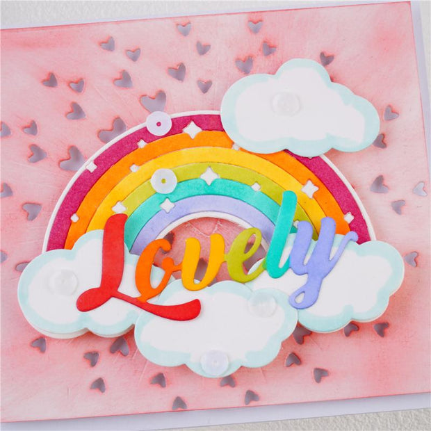 Rainbow and Clouds Metal Cutting Dies