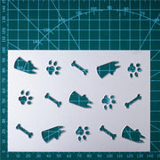 Pets and Footprints Background Board (3 Choices)Metal Cutting Dies
