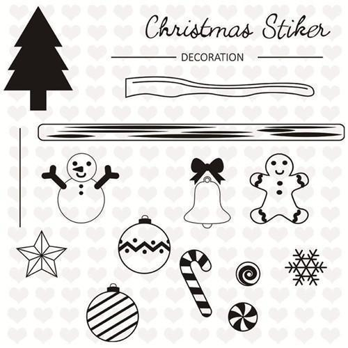 Inloveartstamp Only Cutting Die Christmas Stamps  Dies