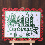 Merry Christams Candles Gift Cutting Dies