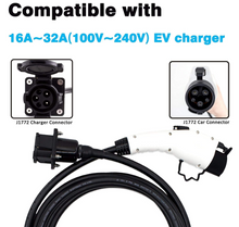 将图片加载到图库查看器,Megear - 20 FT EV Charging Extension Cable Electric Vehicle Extension Cord Compatible with Any J1772 Charging Cable(Rated Current 30 Amp)