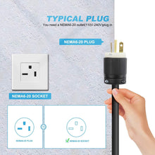 将图片加载到图库查看器,Megear 2021 Gen 2 Updated Version | Level 2 EV Charger (240V, 16A, 25ft) | Portable EVSE Home Electric Vehicle Charging Station | NEMA 6-20 Plug - MEGEAR