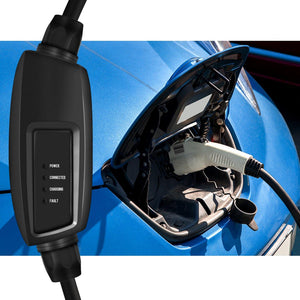 Level 2 EV Charger | NEMA10-30 Plug | Adapter for NEMA 5-15 | Portable | Indoor Use