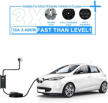 将图片加载到图库查看器,Megear - Type 2 EV Charger Cable | 1 Phrase 6/8/10/16A Adjustable | Schuko 2 pin Euro Plug Charging Box Electric Vehicle Charging Station Car EVSE | 25ft | IEC62196 Standard - MEGEAR