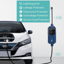 将图片加载到图库查看器,Megear - Type 2 EV Charger Cable | 1 Phrase 16A Schuko 2 pin Euro Plug Charging Box Electric Vehicle Charging Station Car EVSE 3.8kw | 25ft | IEC62196 Standard - MEGEAR