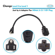 Load image into Gallery viewer, Megear - Universal Power Cord | 3 Feet | NEMA 6-20 to NEMA 5-15 | Adapter For EV Charger